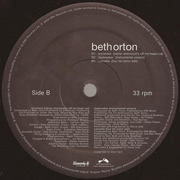Beth Orton Anywhere US 2 x 12""