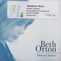 Beth Orton Dawn Chorus UK CDR promo