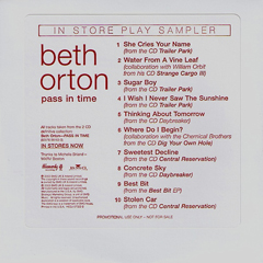 Beth Orton Pass In Time Sampler