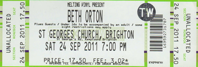 Beth Orton St Georges Church Brighton