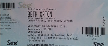 Beth Orton 2012.12.05 union chapel