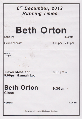Beth Orton Rescue Rooms Nottingham