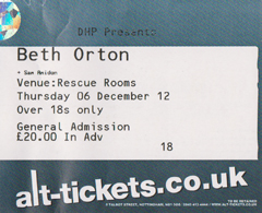 Beth Orton 2012.12.06 Rescue Rooms