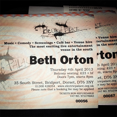 Beth Orton The Electric Palace Bridport