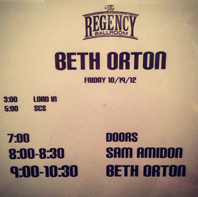 Beth Orton The Regency Ballroom San Francisco, CA USA