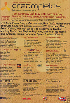 May 1998 - Creamfields, Winchester